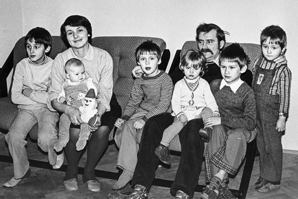 Lech Walesa mit Familie