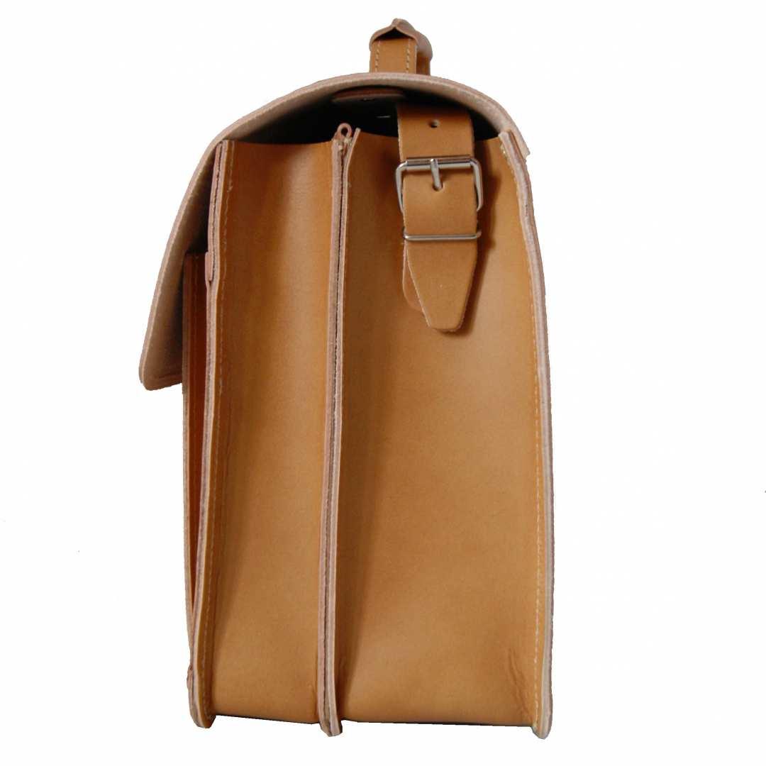 40ba8122885 ... Vorschau: 2-Fächer Schultasche 42 cm groß Leder hellbraun